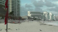 Cancun Beach Mexico - stock footage