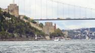 Rumelihisari, Bosporus, Istanbul Stock Footage