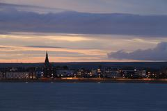 dusk weymouth seafront england - stock photo