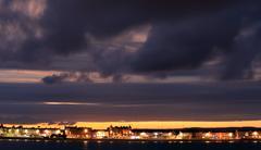 Stock Photo of dusk weymouth seafront england