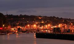 weymouth harbour england - stock photo