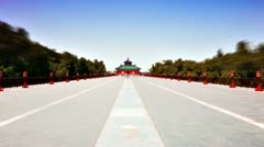 Beautiful Scene of Beijing: Temple of Heaven, Beijing, China. Timelapse Stock Footage