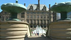 Peace Gardens Fountains Stock Footage