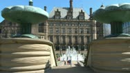 Stock Video Footage of Peace Gardens Fountains
