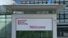 Sheffield Hallam University Stock Footage