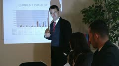 Corporate meeting presenter Stock Footage