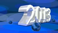Stock Video Footage of new 2013 year in 3d design