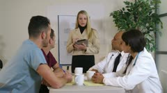 Business meeting with doctors Stock Footage