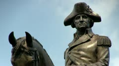 George Washington Boston - stock footage