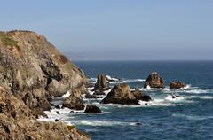 Stock Photo of Rocky shoreline near Bodega Bay on the California coast.