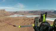 Potash Evaporation ponds Moab Utah aerial shot HD 0004 Stock Footage