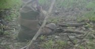 Stock Video Footage of Boots walking on a rocky trail HD