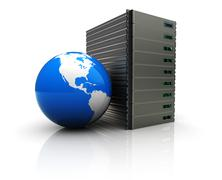Global server Stock Illustration