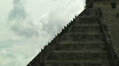 Stock Video Footage of Chichen Itza Mexico Yucatan Kukulcan Pyramid handheld