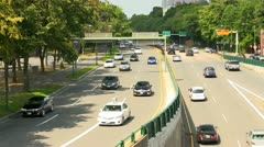Storrow drive traffic Boston; 2 Stock Footage