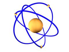 Stock Illustration of atomic model