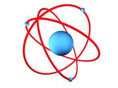 atomic model - stock illustration