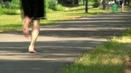 Walking path Boston Stock Footage