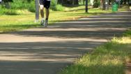 Walking path Boston; 2 Stock Footage