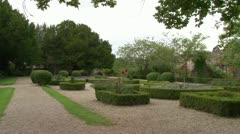 Ruthin Castle Gardens Stock Footage