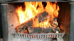 Fast Burning Fire Stock Footage