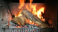 Romatic Fire Burning - stock footage