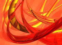 red and gold abstract background - stock illustration