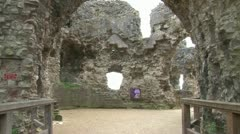 Denbigh Castle Ruins Stock Footage