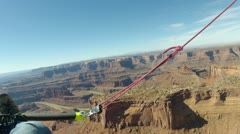 Dead Horse Point Canyonlands Utah from ultralight aircraft aerial shot HD 0002 Stock Footage