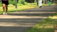 Walking path Boston; 5 Stock Footage
