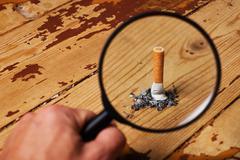 cigarette end - stock photo