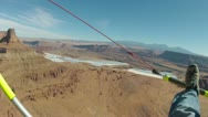 Moab Utah Potash Evaporation Ponds from ultralight aircraft aerial shot HD 0003 Stock Footage
