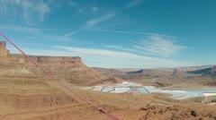 Moab Utah Potash mines aerial shot HD 0004 Stock Footage
