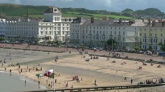 British Victorian Seaside Resort Stock Footage
