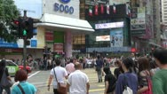 Fast motion of Busy streets in Hong Kong by day, China Stock Footage