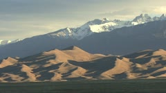 Dramatic view of Great Sand Dunes Colorado Stock Footage