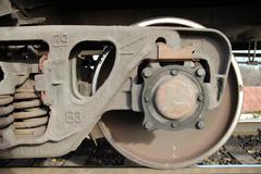 Russian Railways. Locomotives, wagons. - stock photo