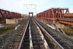 Russian Railways. Locomotives, wagons. Stock Photos