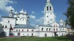 Complex of Saint Sofia and Holy resurection cathedral in Vologda Stock Footage