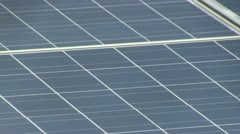 Solar panel array rooftop; 4 - stock footage