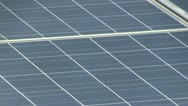 Stock Video Footage of Solar panel array rooftop; 4