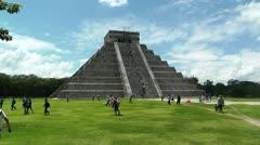 Chichen Itza Mexico Yucatan Kukulcan Pyramid handheld Stock Footage