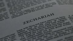 Bible-Zechariah - stock footage