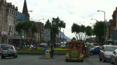 Motorised Tourists Trains Stock Footage