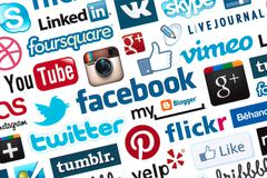 Stock Illustration of social media logotype background
