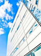 blue office building - stock photo