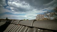 Clouds on a Roof Timelapse Stock Footage