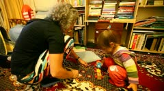 Grandmother Plays with Grand Daughter Stock Footage