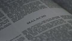 Bible-Malachi - stock footage
