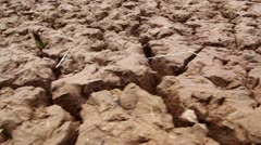 Surface of flaw clay, view from above in motion Stock Footage